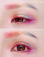 Unicorn Rainbow Eyes Makeup by mollyeberwein