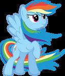 MLP Rainbow Dash Vector #4