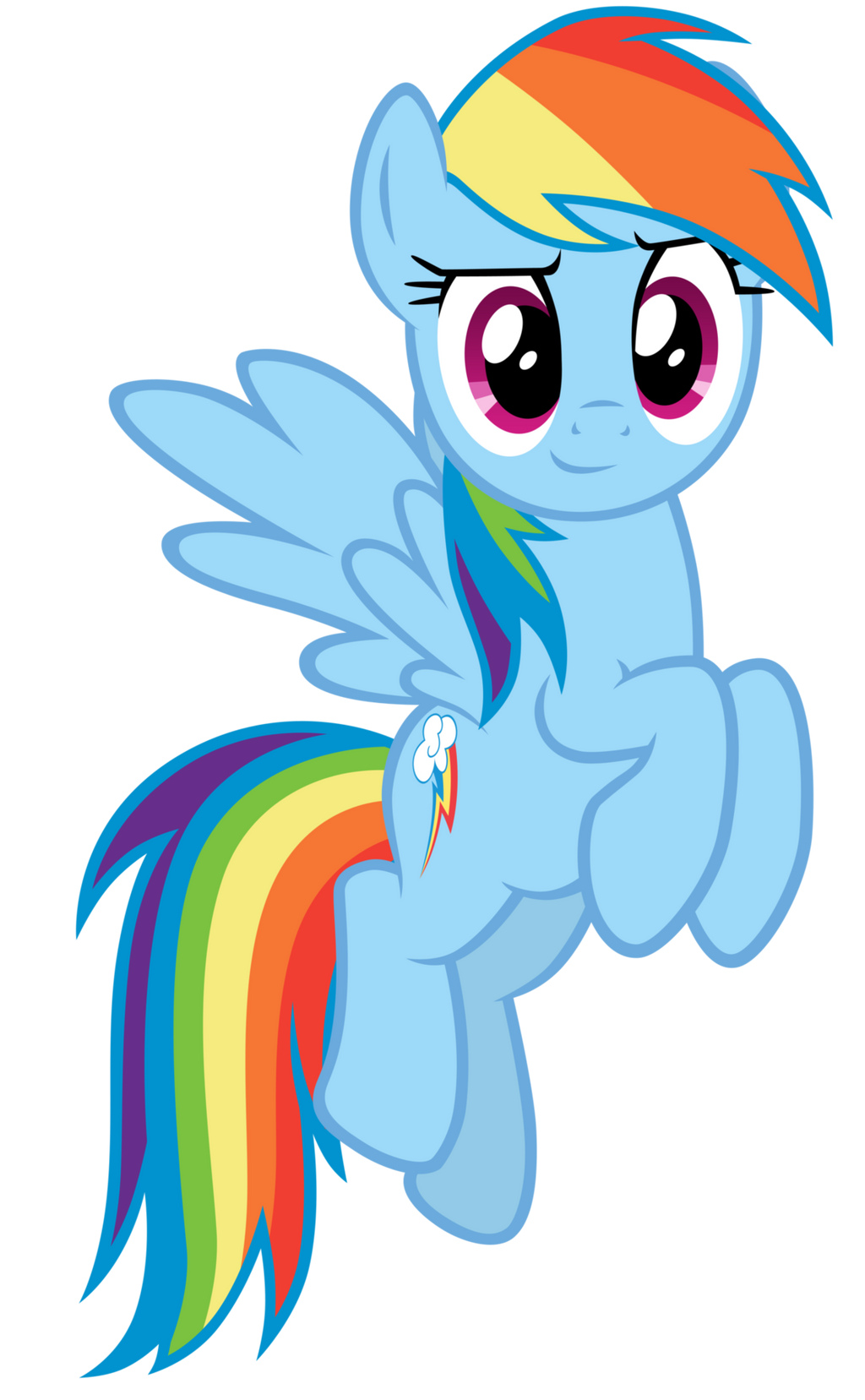 Rainbow Dash - Rainbowfied from Group Shot by CaliAzian on