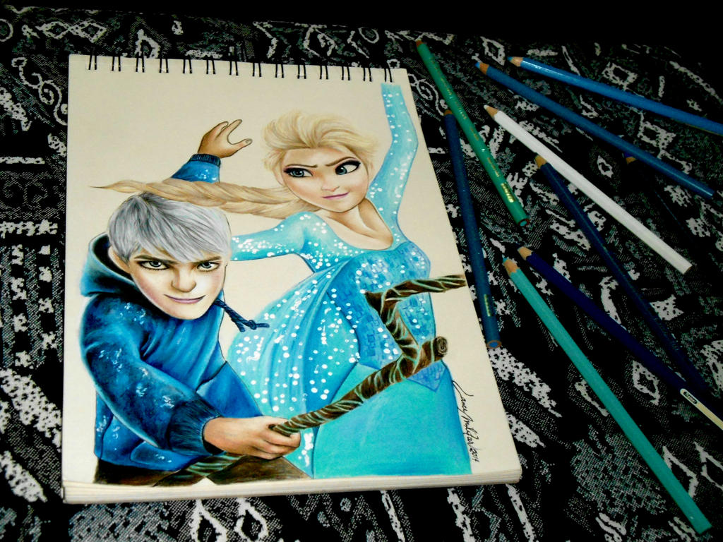 Queen Elsa and Jack Frost - DONE
