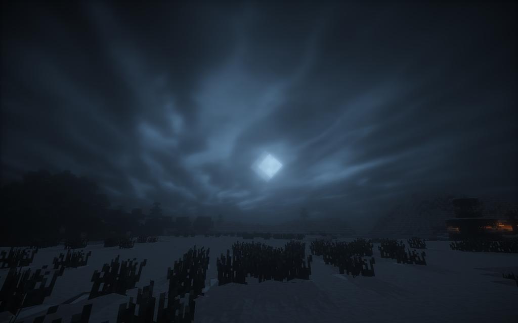 minecraft shaders night