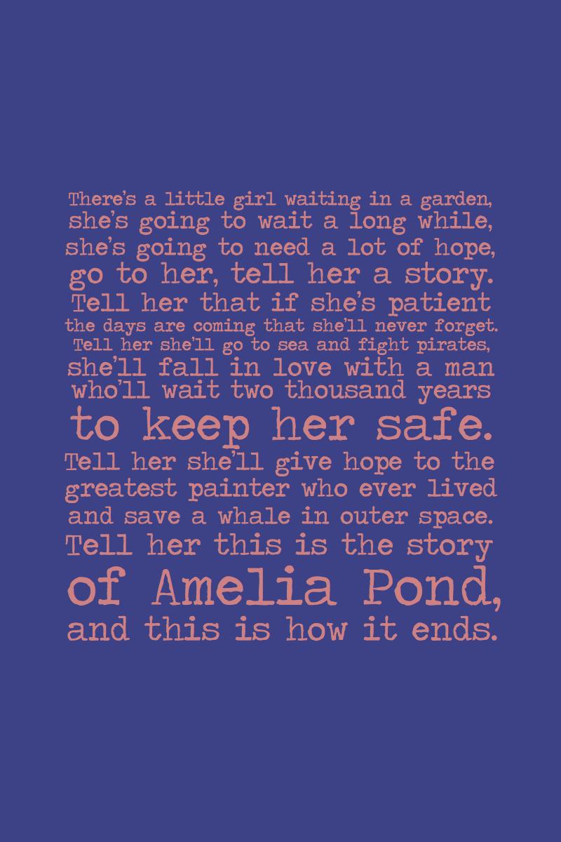 Spoiler- Amelia Pond by inkandstardust