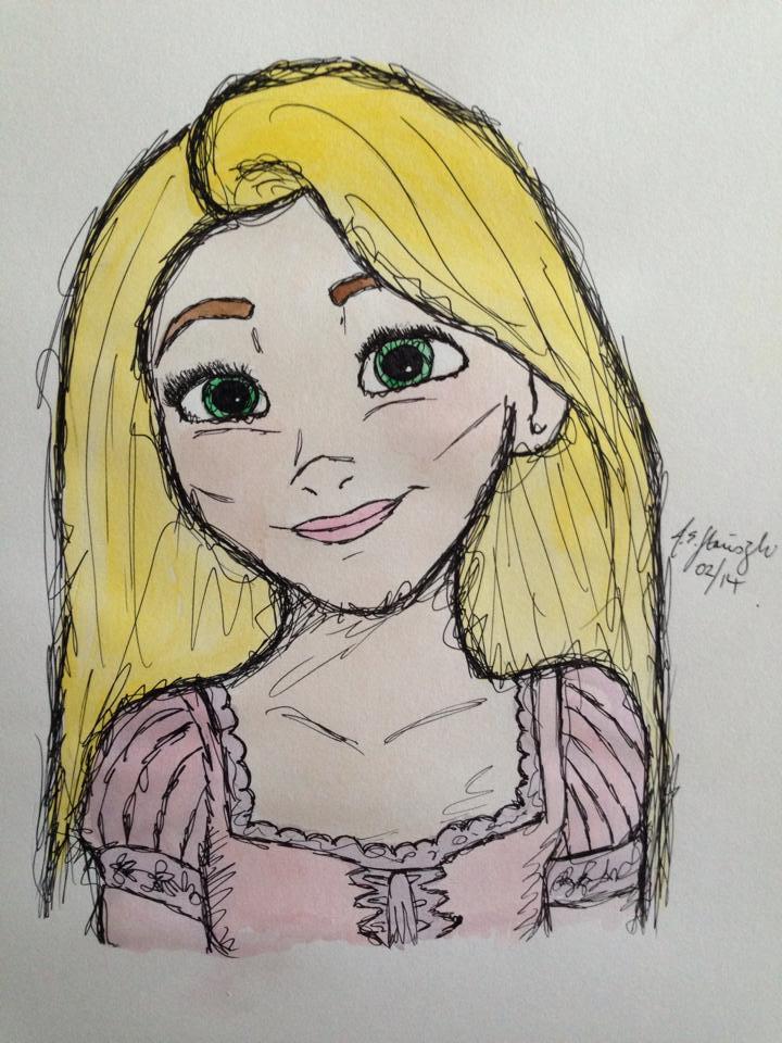 Rapunzel by inkandstardust