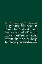 Dinosaur by inkandstardust