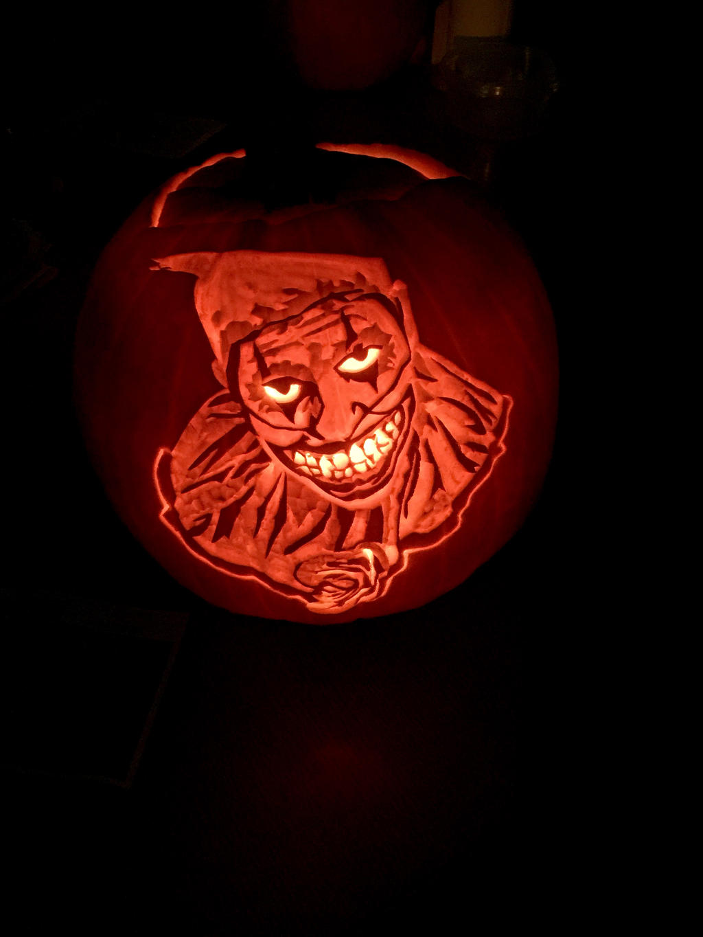 Twisty the clown by firefly181 on deviantart for Clown pumpkin painting