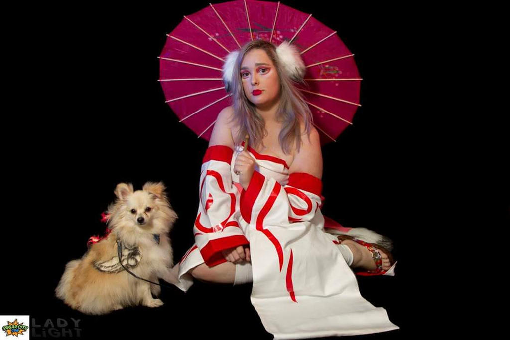 My Dogs And I Okami Cosplay by Hayley-Hyrule