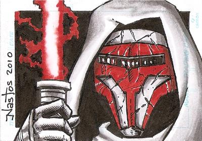 Star Wars: Revan Sketchcard by ElfSong-Mat