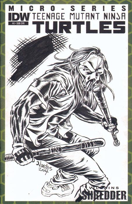 TMNT Sketchcover with Casey Jones by ElfSong-Mat