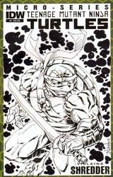 TMNT Sketchcover with Leonardo