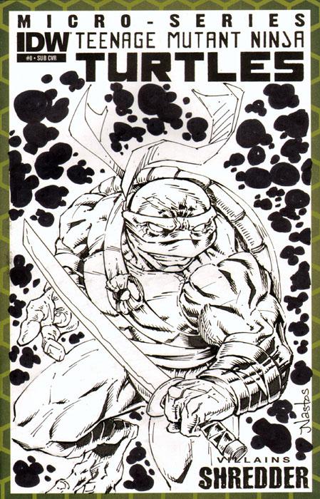 TMNT Sketchcover with Leonardo by ElfSong-Mat