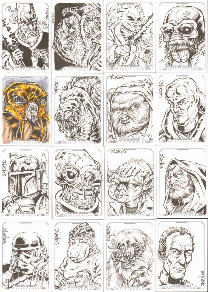 Star Wars Masterwork Sketchcards 1 by ElfSong-Mat