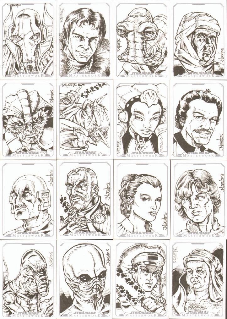 Star Wars Masterwork Sketchcards 2 by ElfSong-Mat