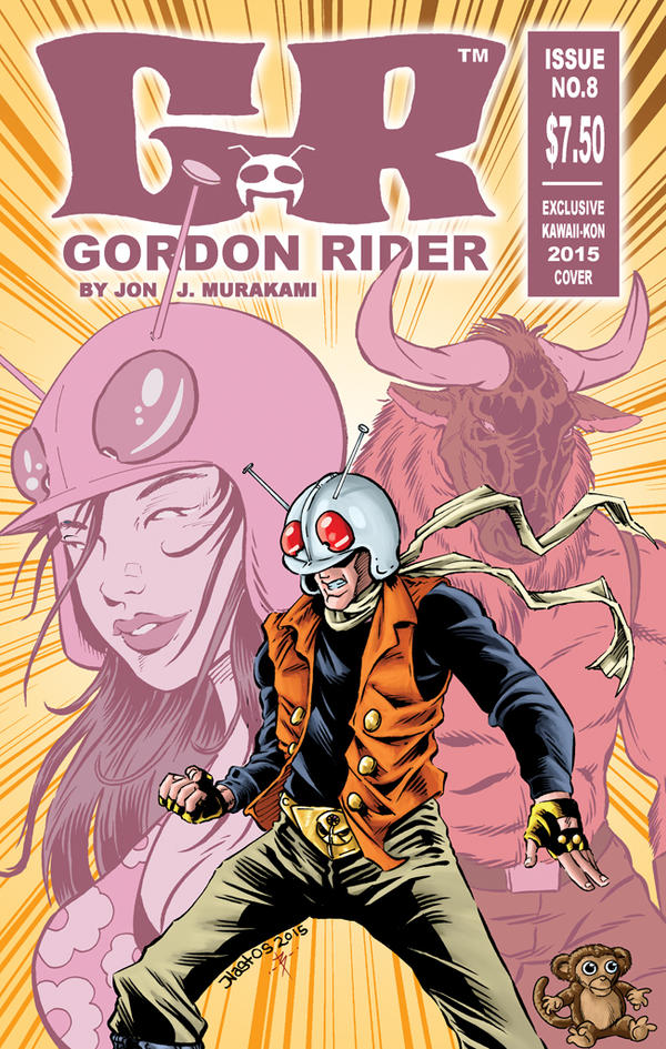 Gordon Rider Ish 8 Variant Cover by ElfSong-Mat