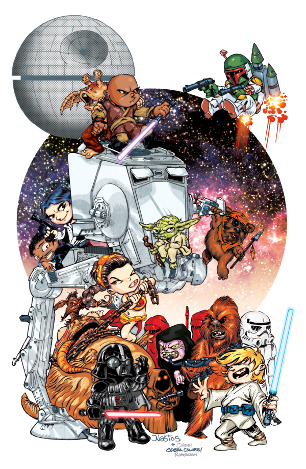 Chibi Star Wars Print by ElfSong-Mat