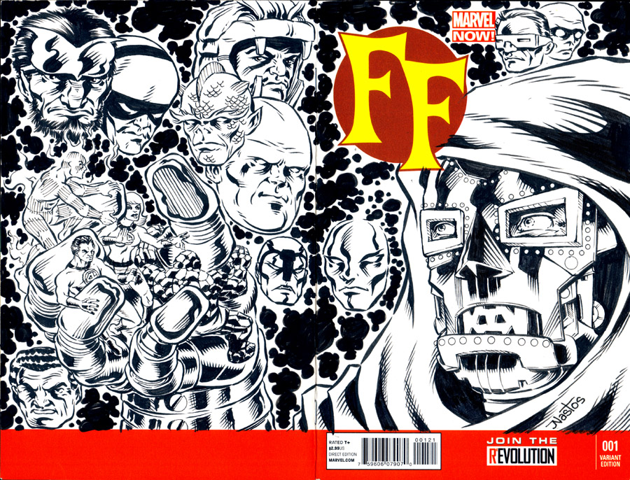 Finished Fantastic Four 16 homage sketchcover. by ElfSong-Mat
