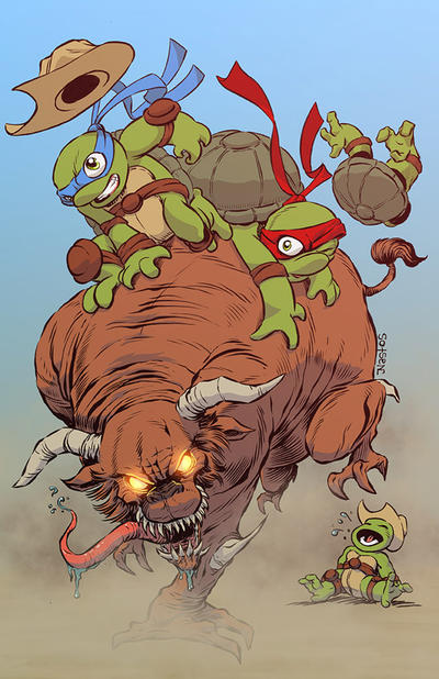 Amazing Houston Teenage Mutant Ninja Turtles print by ElfSong-Mat