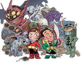 Chibi Rangers - Adventures of Alex and Azim