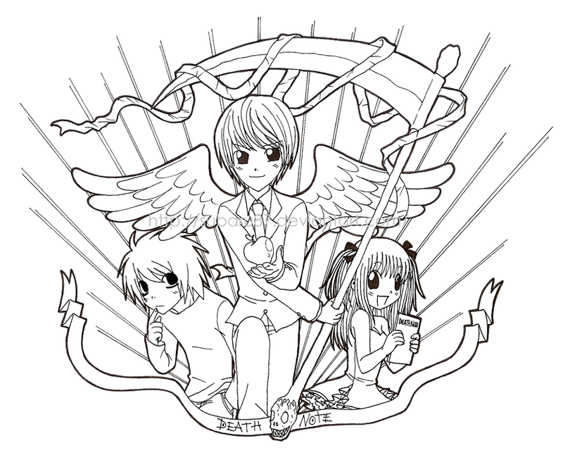 Dibujos Para Colorear De Death Note: Death Note Misa Coloring Pages Coloring Pages