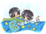 Kamui and Subaru goin' to bed