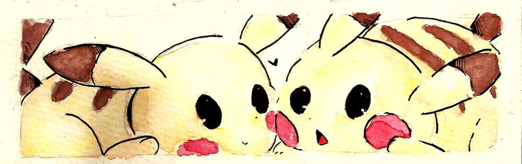 Watercolor Bookmark: Sweetface by Kami-chama18