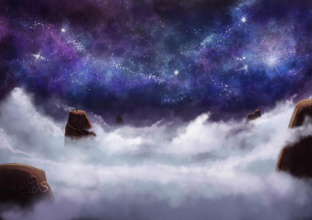 A starry night sky by asahirureiko