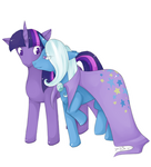 Twilight and Trixie for NavitusErusSirus