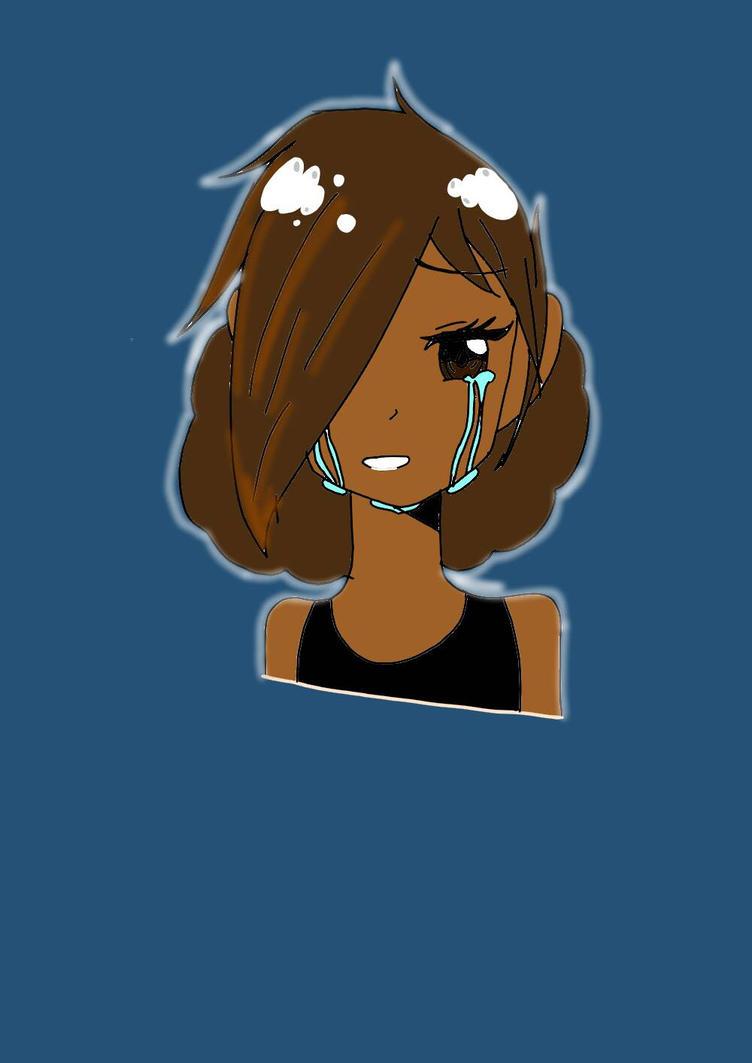 Crying anime Girl by UndertaleSokemo
