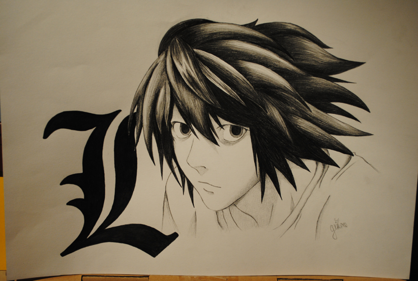 Lawliet - Death ...L Death Note Drawing