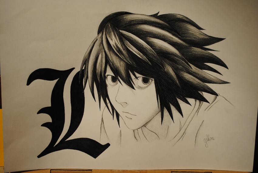 Lawliet - Death ...L Death Note Drawing