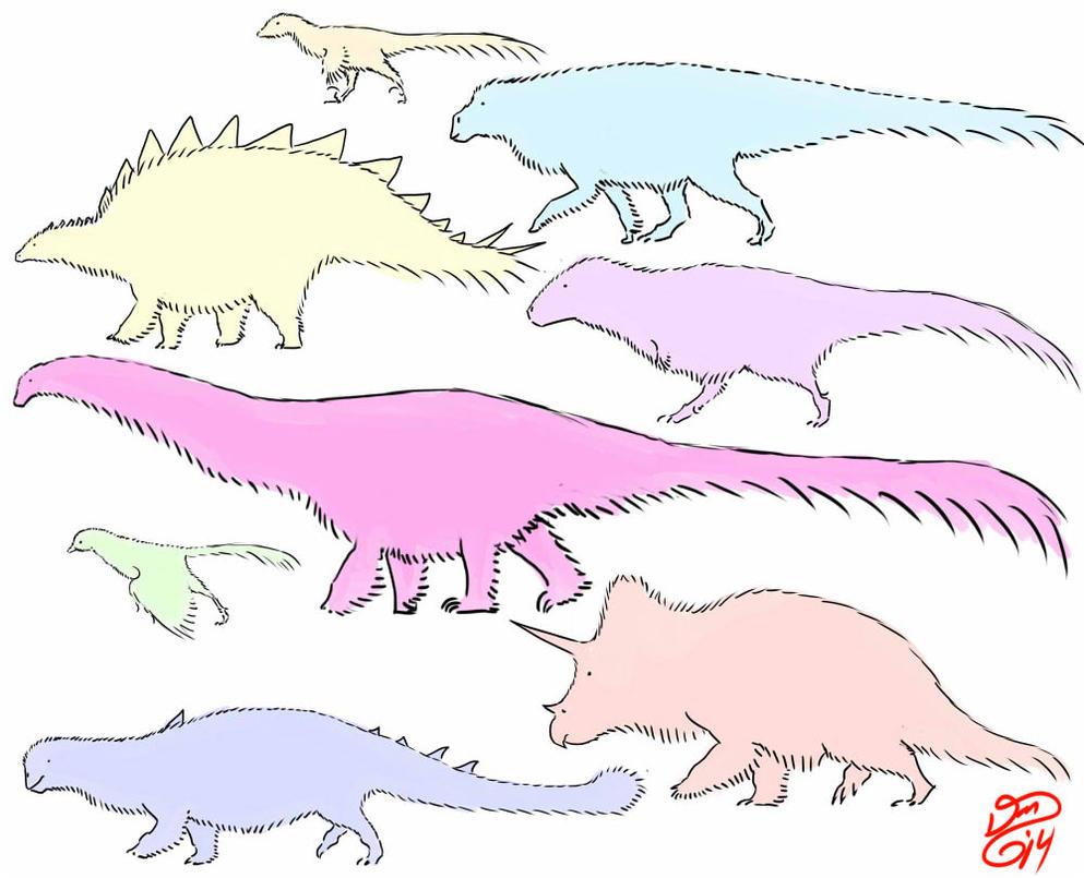 All hail the fluffosaurus! by bensen-daniel