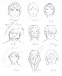 Tyrannosaur Queen characters by bensen-daniel