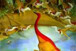 Gallimimus and Velociraptor