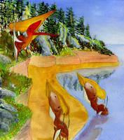 Tupuxuara and Thalassadromeus by bensen-daniel