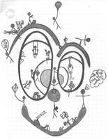 Art Trade sketch for : xxthefallenangelsxx by Tasa94