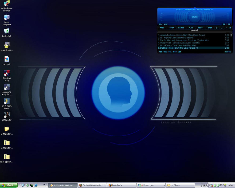 Sound media desktop by Destinati0n