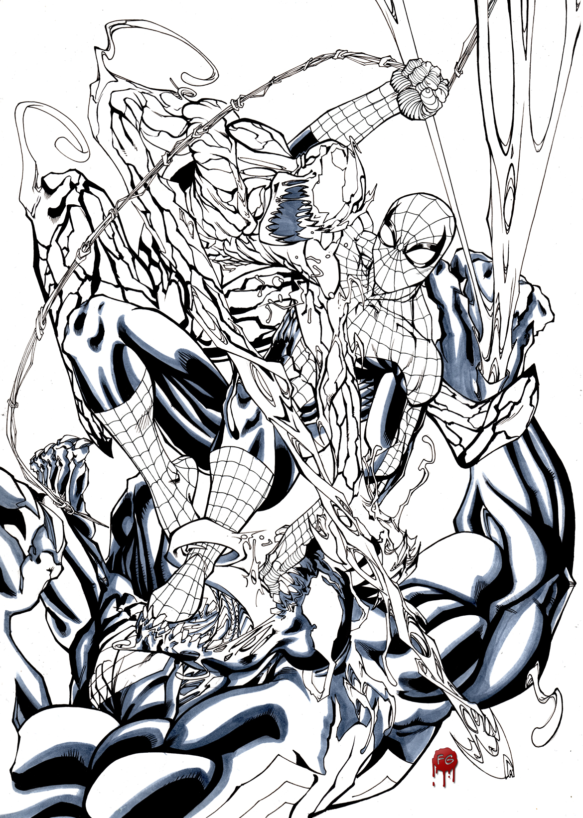 Spiderman Vs Venom And Carnage Preview By Francescogerbino On