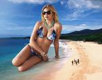 Giantess at the Beach - Kate Upton