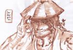 Trying sumi-e 011 - Kyoraku (brown) /scanned/ by deidara1444