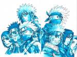 Minato and Kakashi Team - with felt pen