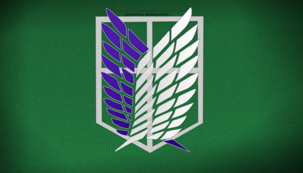 Wallpaper Attack On Titan Scouting Legion Green By Deidara1444 On Deviantart