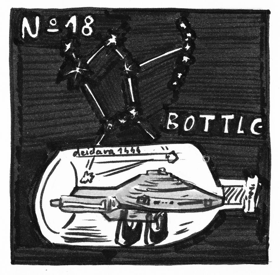 Inktober 2018 - No 18 - Bottle by deidara1444