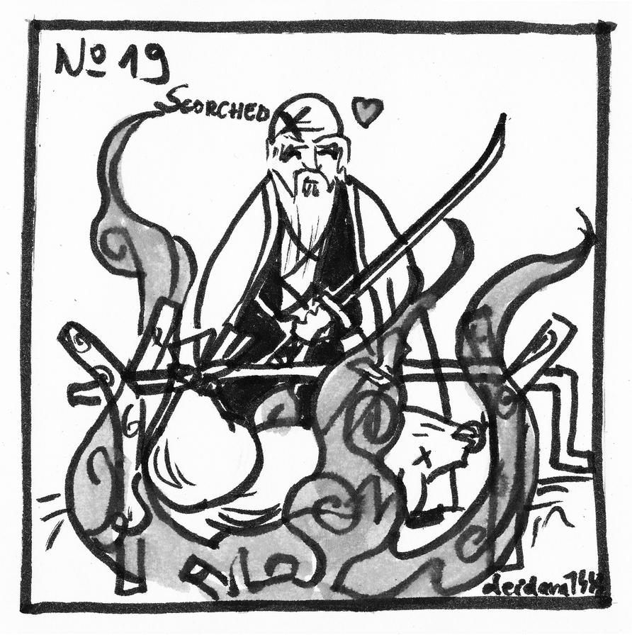 Inktober 2018 - No 19 - Scorched by deidara1444