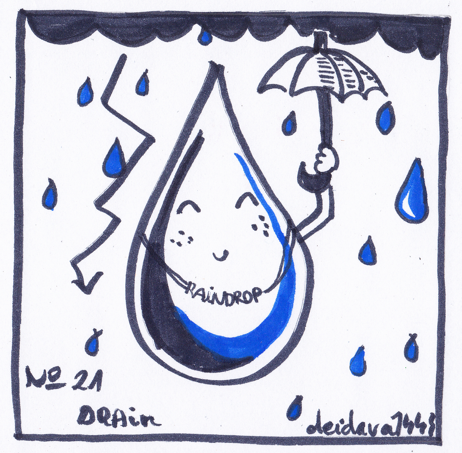Inktober 2018 - No 21 - Drain by deidara1444