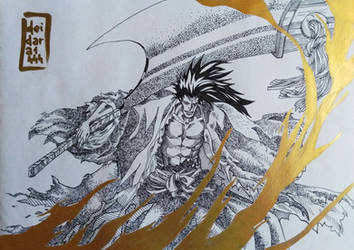 Zaraki Kenpachi to Dingier (photosed) by deidara1444
