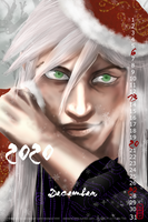 2020 Calendar - December - Ukitake - finished