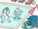 Pouflon prompt - Pool fun - Nimi and co