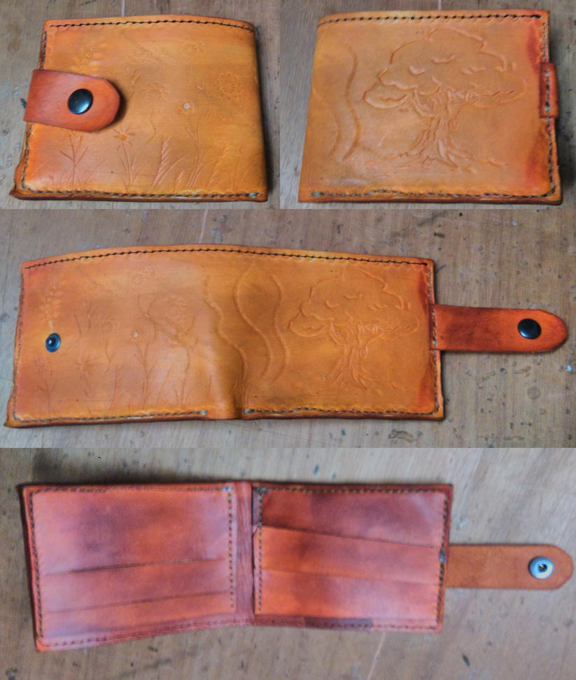 tree design stamped wallet 03 by armourplatedlegion