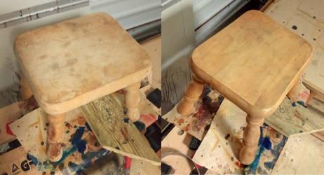small stool restoration