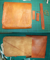 comission - leather pouch - 04
