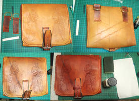 comission - leather pouch - 05
